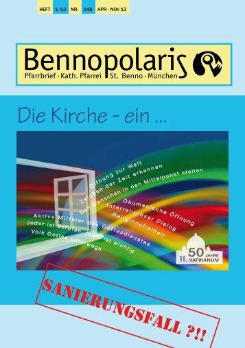 Aktuelle Pfarrbrief Nr. 148 01/13 - von April 2013 ... - Pfarrei St. Benno