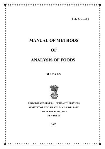 Method for analyze micronutrient in food?