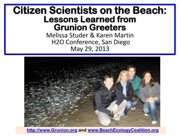 Citizen Scientists on the Beach - Lessons Learned from the Grunion ...
