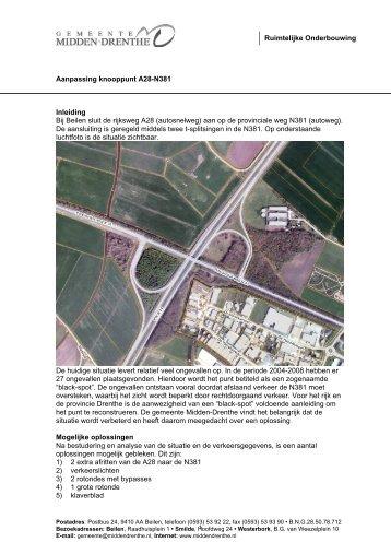 Ruimtelijke Onderbouwing Aanpassing knooppunt A28-N381 ...