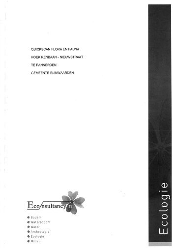 Bijlage 16 Quickscan Flora en Fauna, Econsultancy, 20 december ...