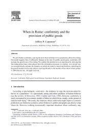 When in Rome: conformity and the provision of public goods