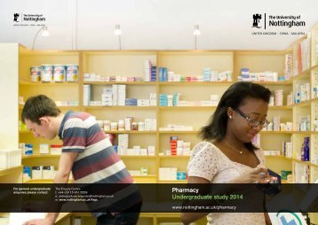 Pharmacy Undergraduate study 2014 - University of Nottingham