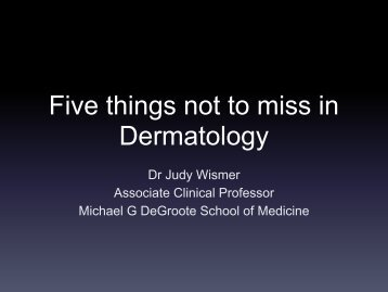 Five things- Dr. Wismer