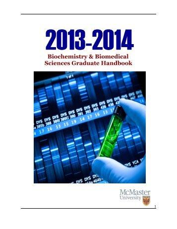 Graduate Handbook - Faculty of Health Sciences - McMaster ...