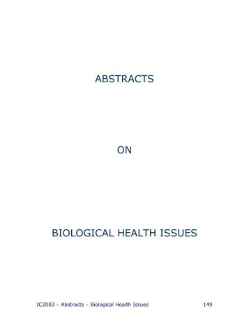 THURSDAY ABSTRACTS - Faculty of Health Sciences - McMaster ...