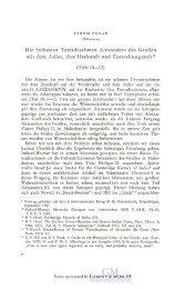 Die frühesten Tetradrachmen Alexanders des Großen mit dem Adler ...