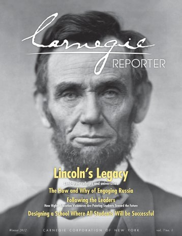 Lincoln's Legacy - Carnegie Corporation of New York