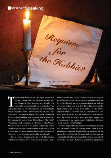 Requiem for the Hobbit? - SMA News - Singapore Medical Association