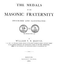 The medals of the masonic fraternity described and illustrated