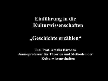 Geschichte erzählen - Theorien und Methoden der ...