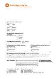 SCHMERZPROTOKOLL für Patientinnen und Patienten