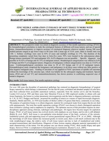 fine needle aspiration cytology of soft tissue tumors - IJABPT