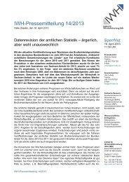 Pressemitteilung 14/2013 - Institut für Wirtschaftsforschung Halle