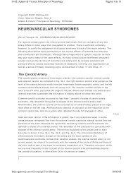 NEUROVASCULAR SYNDROMES