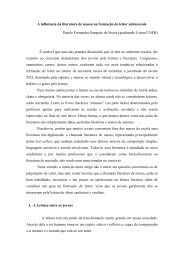 A influência da literatura de massa na formação do leitor ... - pucrs