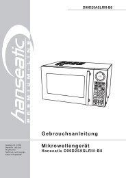 D90D25ASLRIII-B8 Gebrauchsanleitung Mikrowellengerät ... - Schwab