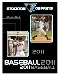 2011 2011 BASEBALL - Richard Stockton College of New Jersey