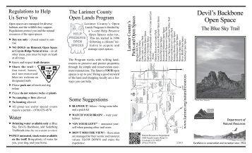 Devil's Backbone Open Space - Larimer County