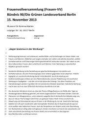Frauenvollversammlung (Frauen-VV) - Bündnis 90/Die Grünen Berlin
