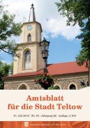 Amtsblatt Teltow 5_2013_geteilt.indd - der Stadt Teltow