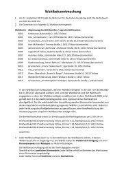 Wahlbekanntmachung zur Bundestagswahl 2013 in Teltow