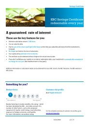 A guaranteed rate of interest These are the key features for you