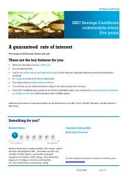 A guaranteed rate of interest