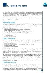 KBC-Business-PRO-Konto