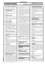 Fachinformation - Carinopharm GmbH