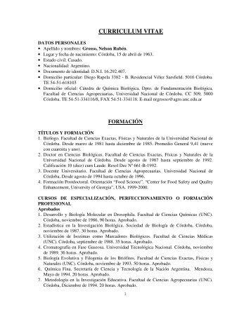 Dr. Nelson Rubén GROSSO - Facultad de Ciencias Agropecuarias ...