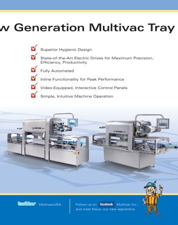 The New Generation Multivac Tray Sealers 800 T700