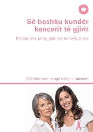 Së bashku kundër kancerit të gjirit - Krebsliga Schweiz
