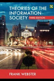 Theories of the Information Society, Third Edition - Cryptome