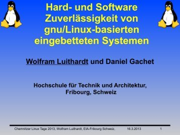 Folien - Chemnitzer Linux-Tage