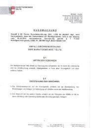 Abfallgebührenverordnung - Marktgemeinde Telfs