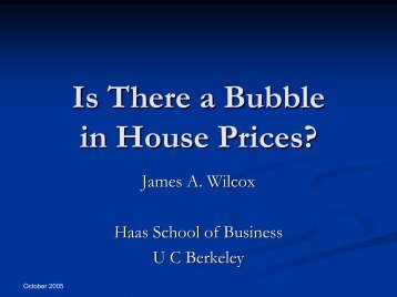 Modelling house prices