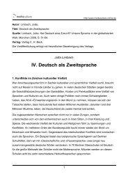 IV. Deutsch als Zweitsprache - Mediaculture online