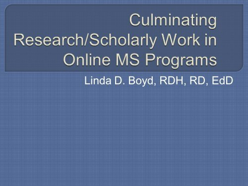 Best Practices in Advising Thesis, Dissertation and Projects for ...