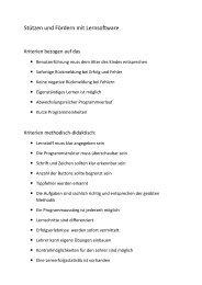 Stützen und Fördern mit Lernsoftware (PDF) - Mediaculture online