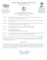 ?~ b~+ - The Oneida Nation of Wisconsin