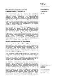Vorarlberger Landesmuseum Neu Präsentation des Vorentwurfs
