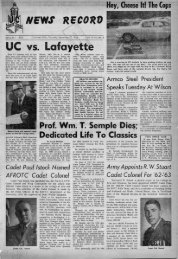 University of Cincinnati News Record. Thursday, September 27 ...
