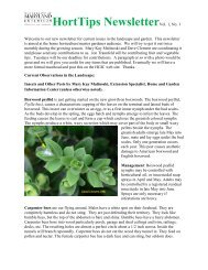 HortTips NewsletterVol. 1, No. 1 - University of Maryland Extension