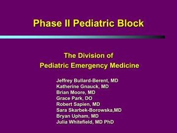 Phase II Pediatric Block - HSC
