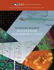 discovering tomorrow's cures - Health Sciences Center - University ...