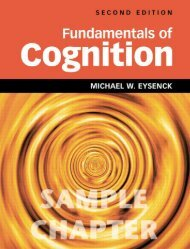 Fundamentals of Cognition 2nd Edition - Routledge