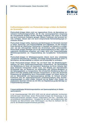 Photovoltaik-Großanlagen wie beispielsweise das Solarkaftwerk ...