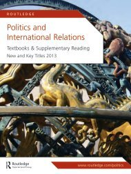 Politics and International Relations 2013 (US) - Routledge