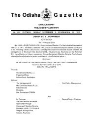 The Odisha G a z e t t e - Odisha.gov.in